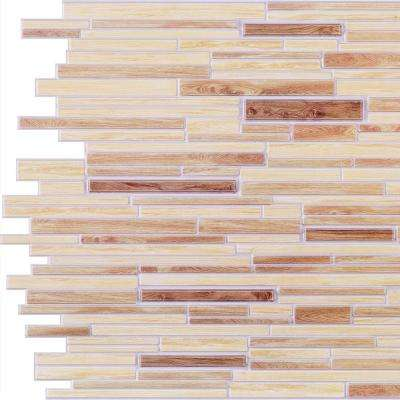 3D Retro 16/1000 in. x 37 in. x 19 in. Beige, Light Brown PVC Wall Panel