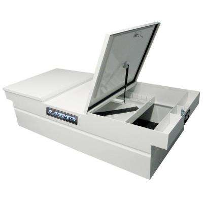 61 in White Steel Full Size Crossbed Truck Tool Box