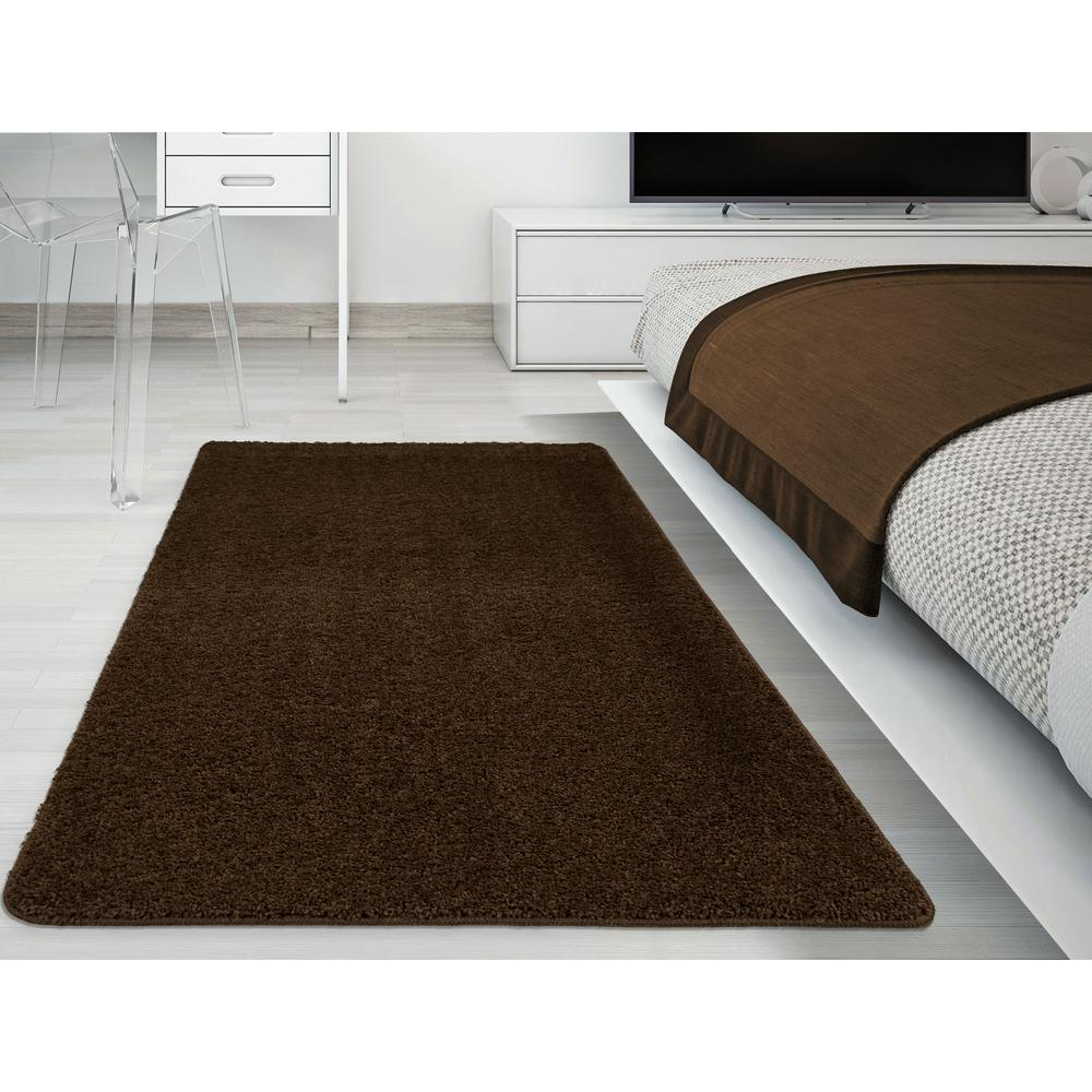 ottomanson luxury shaggy collection shag solid design brown 3 ft x rh homedepot com