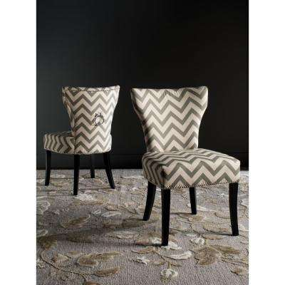 Jappic Grey and White Cotton-Linen Ring Chair (2-Pack)
