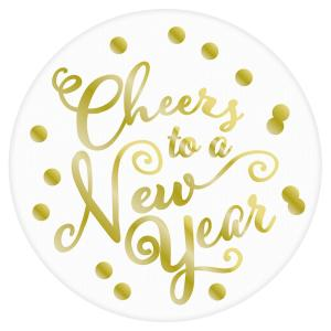 Amscan New Year's 3.75 inch Coasters (18-Count 3-Pack) by Amscan