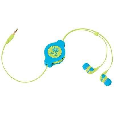 Earbuds Neon, Blue/Yellow