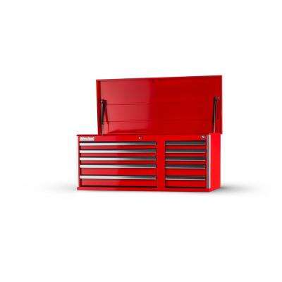 Tech Series 42 in. 10-Drawer Top Chest, Red