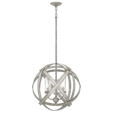 Carson Medium 3-Light Weathered Zinc Outdoor Pendant