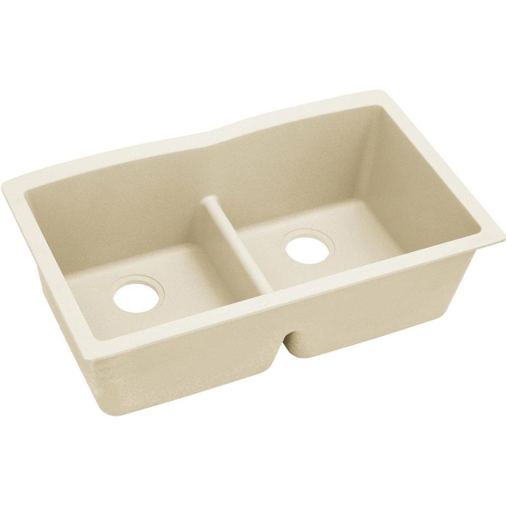 Kitchen Sink 19 X 33: Elkay Luxe Undermount Quartz 33 In. L X 19 In. W Double