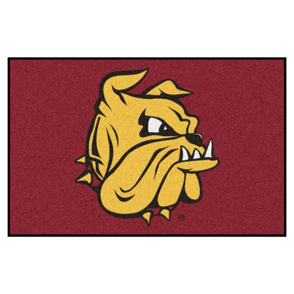 NCAA University of Minnesota-Duluth Maroon 2 ft. x 3 ft. Area Rug
