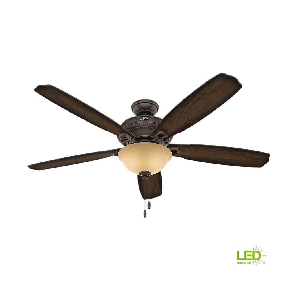Hunter Capshaw 60 Premier Bronze Ceiling Fan With Light: Hunter Beacon Hill 42 In. Indoor New Bronze Ceiling Fan