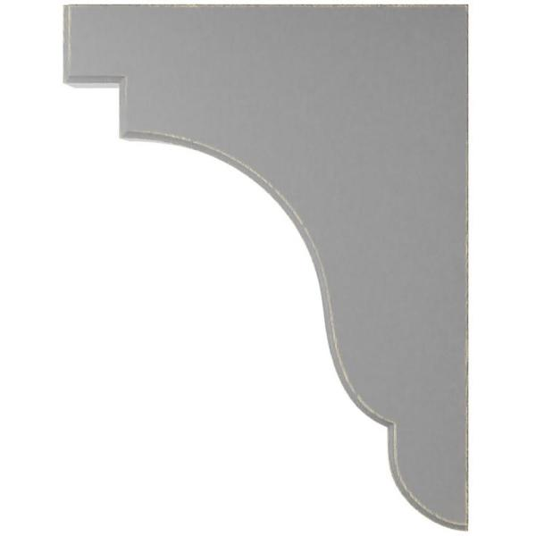 Ekena Millwork 1 3 4 In X 11 In X 8 1 2 In Pebble Grey Bedford Wood Vintage Decor Bracket Bktwd02x09x11bepg The Home Depot