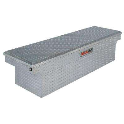 71 in. Aluminum Single Lid Full Size Crossover Tool Box in Bright