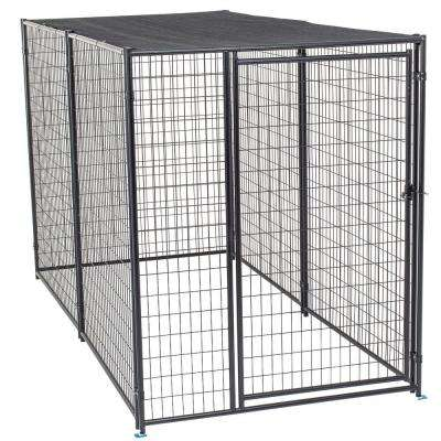 6 ft. H x 5 ft. W x 10 ft. L Modular Kennel with Shade Cloth Roof