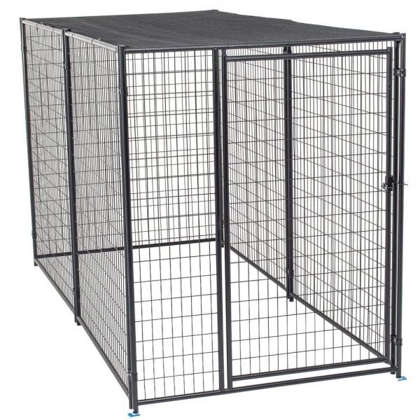 Lucky Dog 4 Ft W X 8 Ft L Modular Welded Wire Kennel Kit Cl 61850 The Home Depot