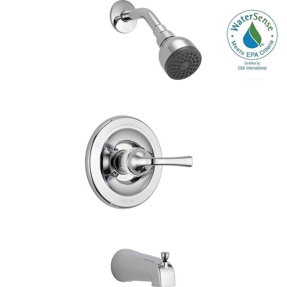 Delta Foundations Single-Handle 1-Spray Tub and Shower Faucet in Chrome