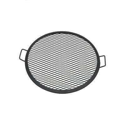 24 in. X-Marks Round Steel Fire Pit Cooking Grill Grate