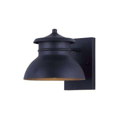 Winston LED Black Outdoor Wall Light