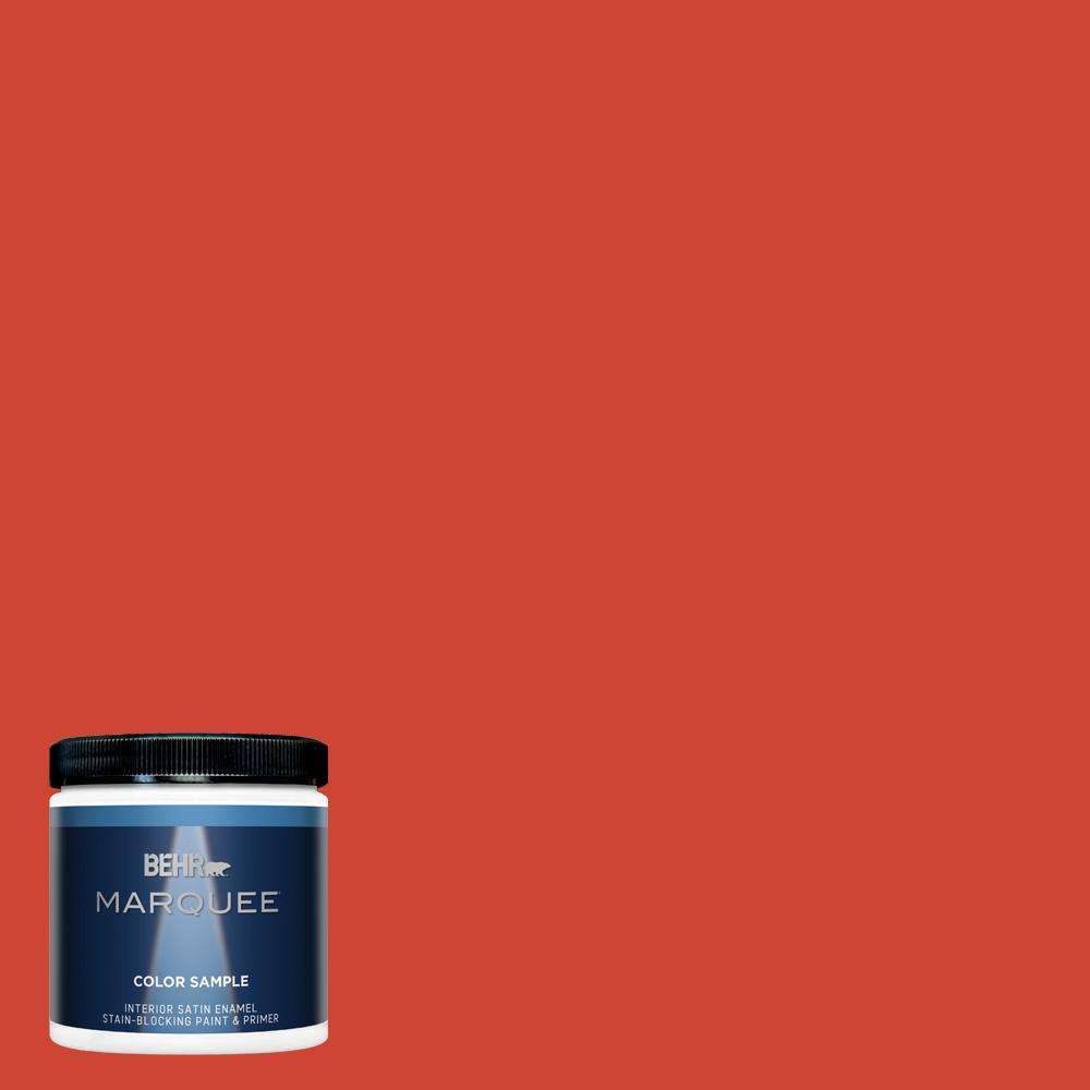 Behr Marquee 8 Oz 180b 7 Chili Pepper Satin Enamel