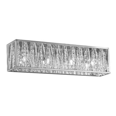 Sophia 4-Light Chrome Vanity Light with Crystal Accents