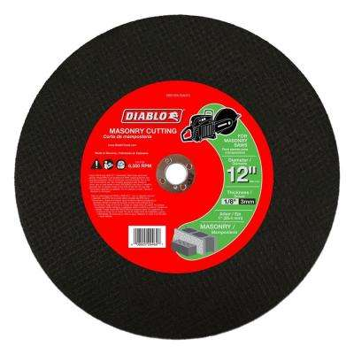 12 in. x 1/8 in. x 1 in. Masonry High Speed Cut-Off Disc (5-Pack)