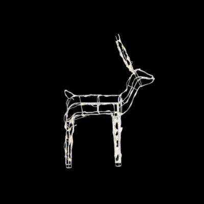 48 in. LED Lighted Wire Reindeer