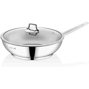12 in. Stainless Steel Frying Pan with Glass Lid