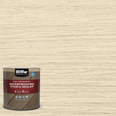 1 qt. #ST-157 Navajo White Semi-Transparent Waterproofing Exterior Wood Stain and Sealer