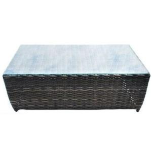 Acapulco Outdoor Rectangle Wicker Outdoor Coffee Table with Glass Top