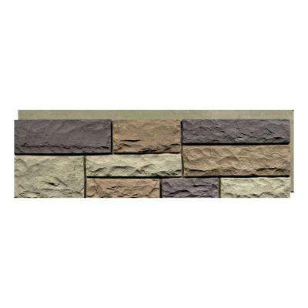 Random Rock New England Mocha 15.5 in. x 48 in. Faux Stone Siding Panel (4-Pack)