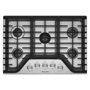36 In. Gas Cooktop In Stainless Steel With 5 Burners Including A Multiflame  Dual Tier. KitchenAid ...