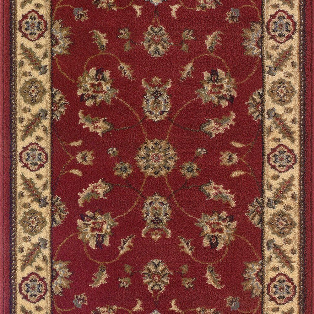 Natco Stratford Kazmir Red 26 In. X Your Choice Length Stair Runner
