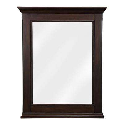 Appleby 24 in. W x 31 in. H Single Wall Hung Mirror in Burnished Walnut