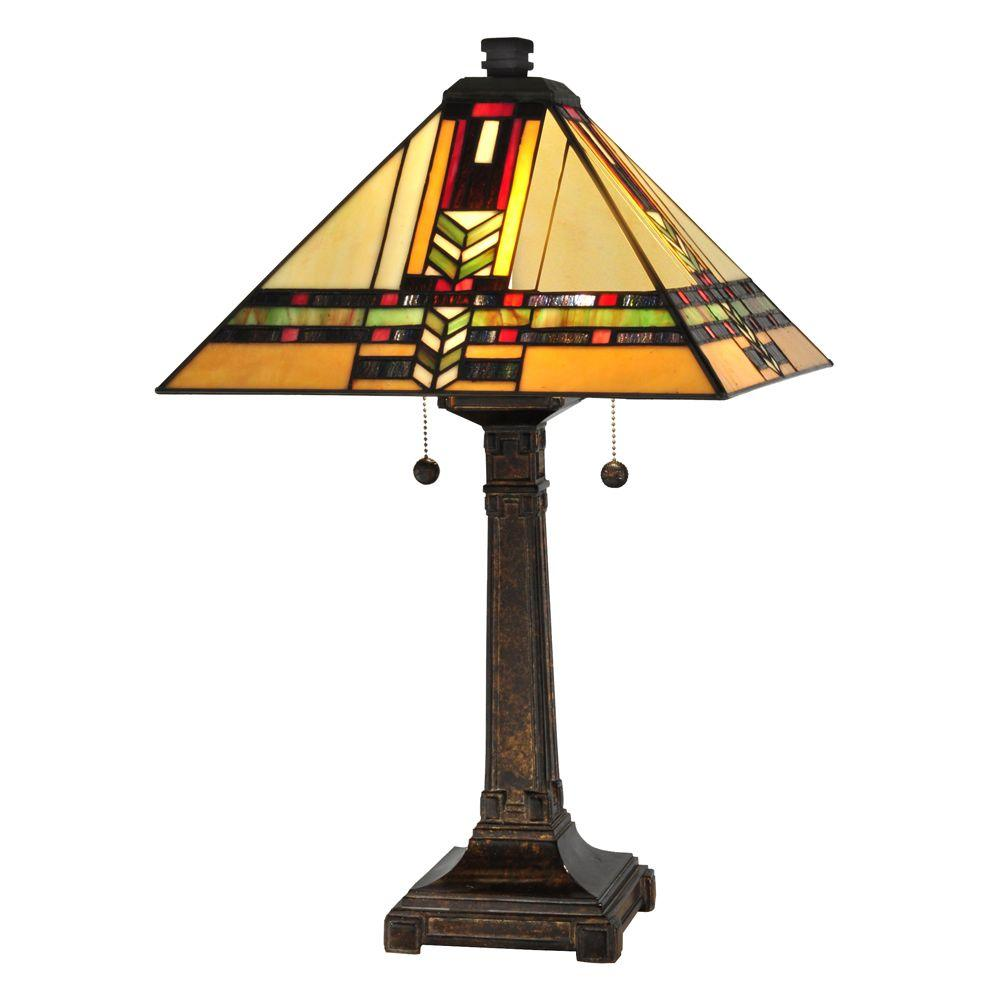 Dale Tiffany 24.5 in. Palo Mission Fieldstone Table Lamp
