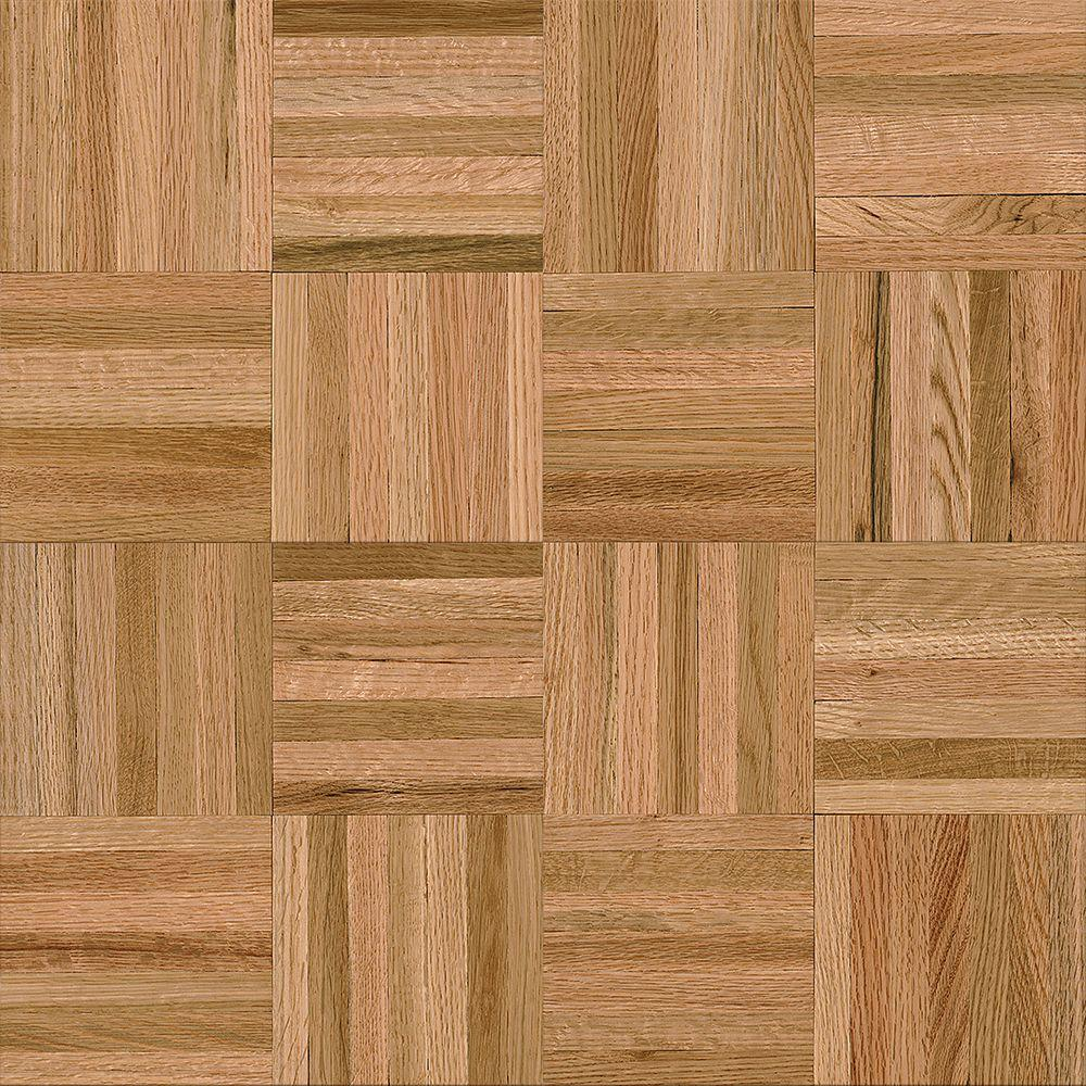 American home 5 16 in thick x 12 in wide x 12 in length natural oak parquet hardwood flooring 25 sq ft case