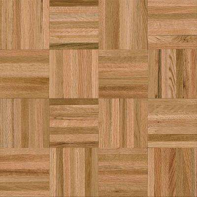 American Home 5/16 in. Thick x 12 in. Wide x 12 in. Length Natural Oak Parquet Hardwood Flooring (25 sq. ft./case)