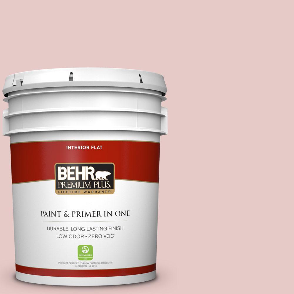 BEHR Premium Plus 5-gal. #170E-2 Blush Beige Zero VOC Flat Interior Paint