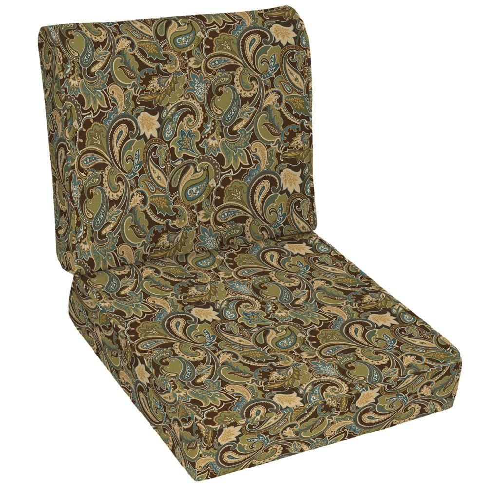 null Lakeside Paisley Deep Seat Set-DISCONTINUED