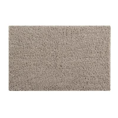 Micro Plush Beige 21 in. x 34 in. Cotton Bath Rug