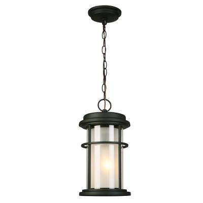 Helendale Matte Black 1-Light Hanging Light