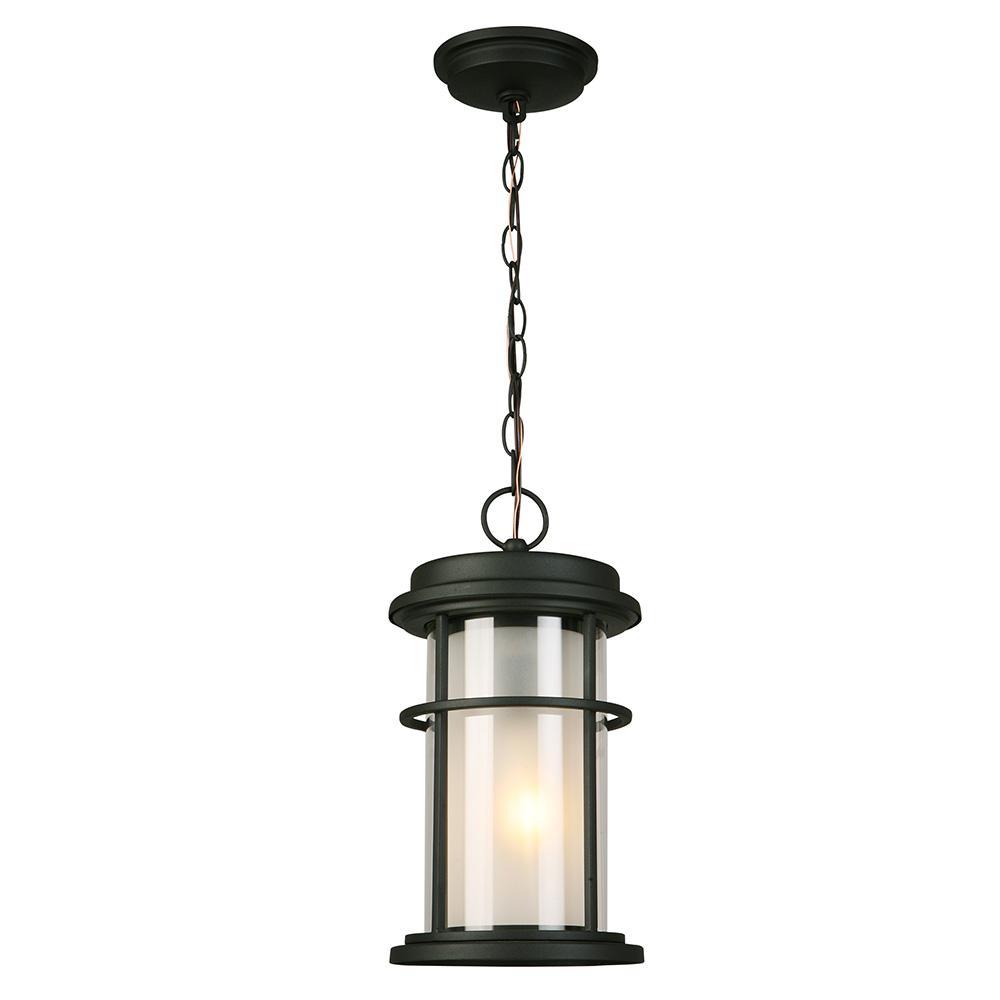 Helendale Matte Black 1-Light Hanging Light