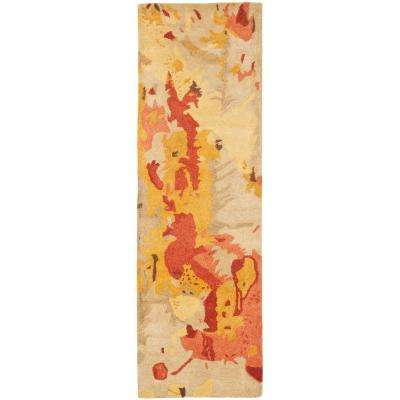 Soho Beige/Multi 3 ft. x 14 ft. Runner Rug