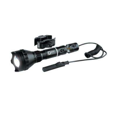 400-Lumen Optimized Optics White Beam LED Flashlight with Universal Long Gun Mount Kit