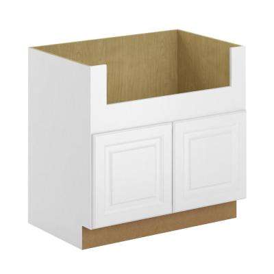 Madison Assembled 36x34.5x24 in. Farmhouse Apron-Front Sink Base Cabinet in Warm White