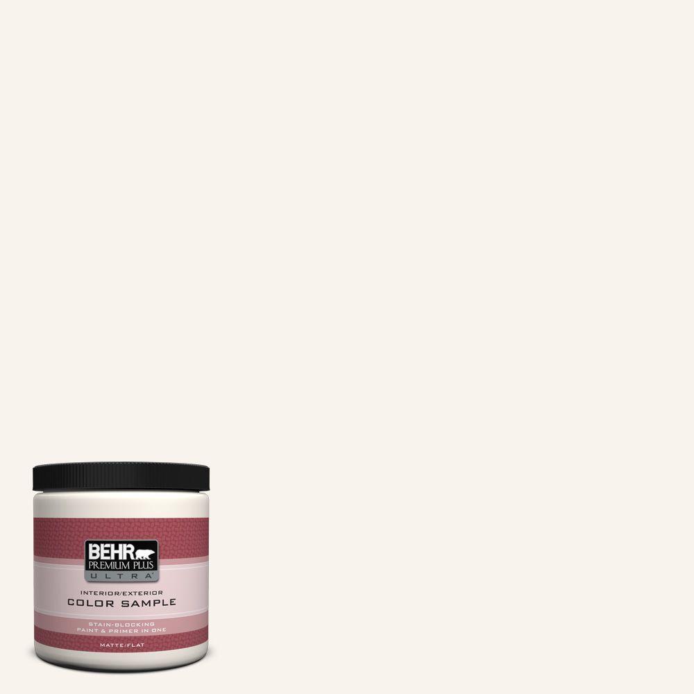 BEHR Premium Plus Ultra 8 oz. #W-D-700 Powdered Snow Interior/Exterior Paint Sample