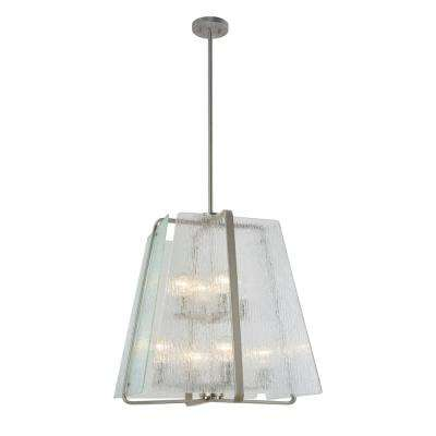 8-Light Brushed Nickel Pendant