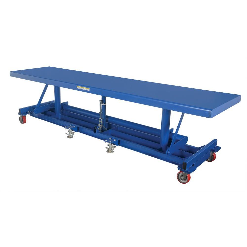 120 in. x 30 in. 2,000 lb. Ergonomic Long Deck Cart