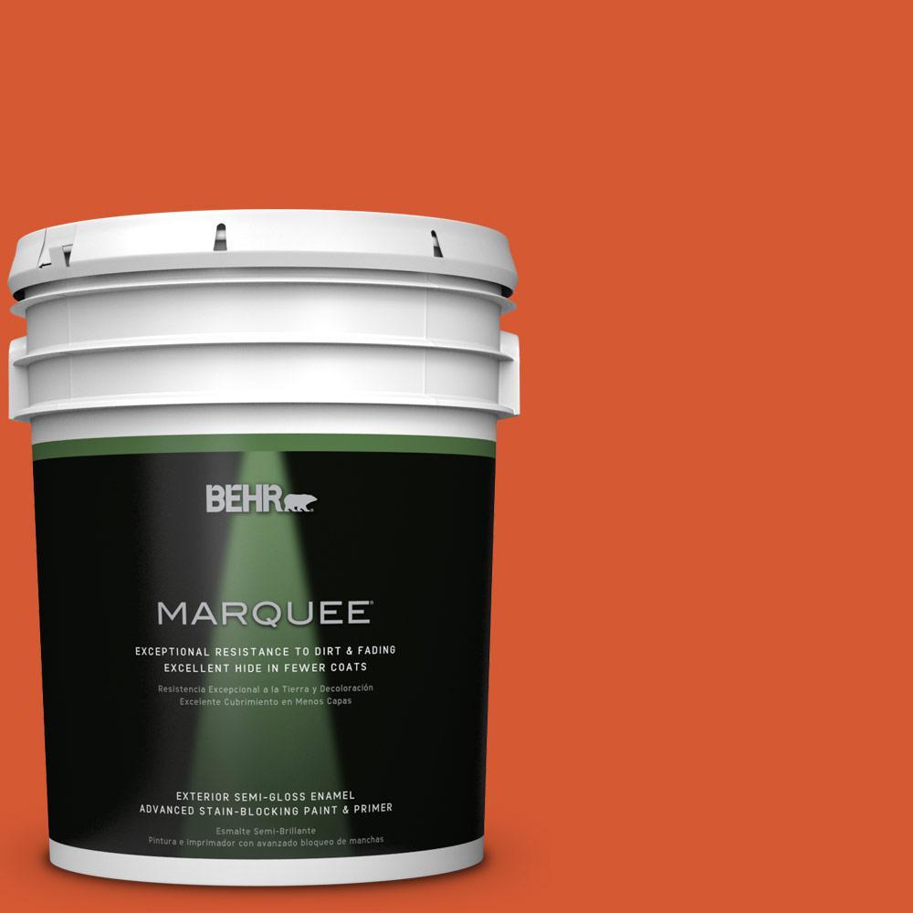 5-gal. #S-G-220 Sweet Mandarin Semi-Gloss Enamel Exterior Paint