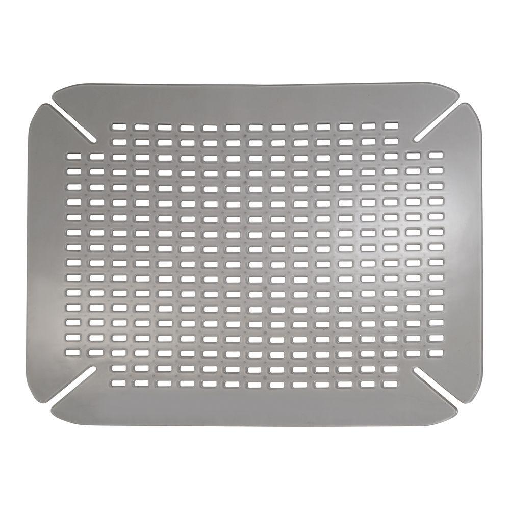 InterDesign Contour Sink Mat In Graphite