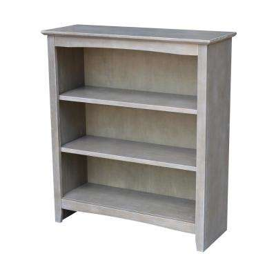 H Weathered Taupe Gray Bookcase