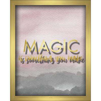 Magic Is Something You Make-Blush 8 in. x 10 in. Shadowbox Wall Art