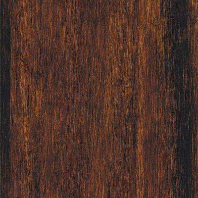 Take Home Sample - Hand Scraped Strand Woven Bamboo Sable Vinyl Plank Flooring - 5 in. x 7 in.