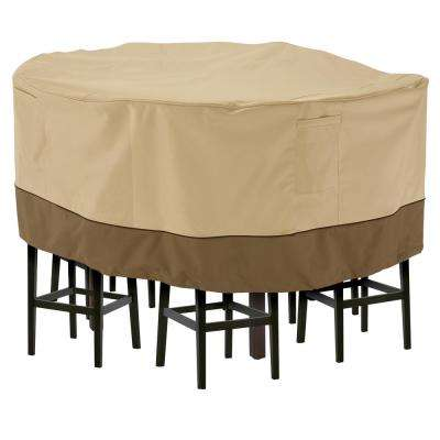 Veranda Medium Tall Round Patio Table And 6 Tall Chairs Set Cover · Classic  Accessories ...