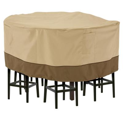 Veranda Medium Tall Round Patio Table and 6 Tall Chairs Set Cover